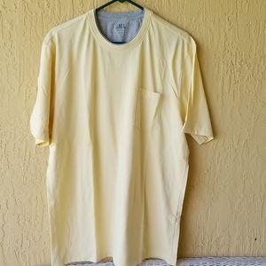IZOD yellow short slv shirt Sz.L